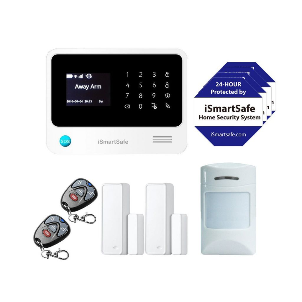 iSmartSafe-Wireless-Home-Security-System-Basic-Package-Cellular-and-WiFi-Burglar-Alarm-White