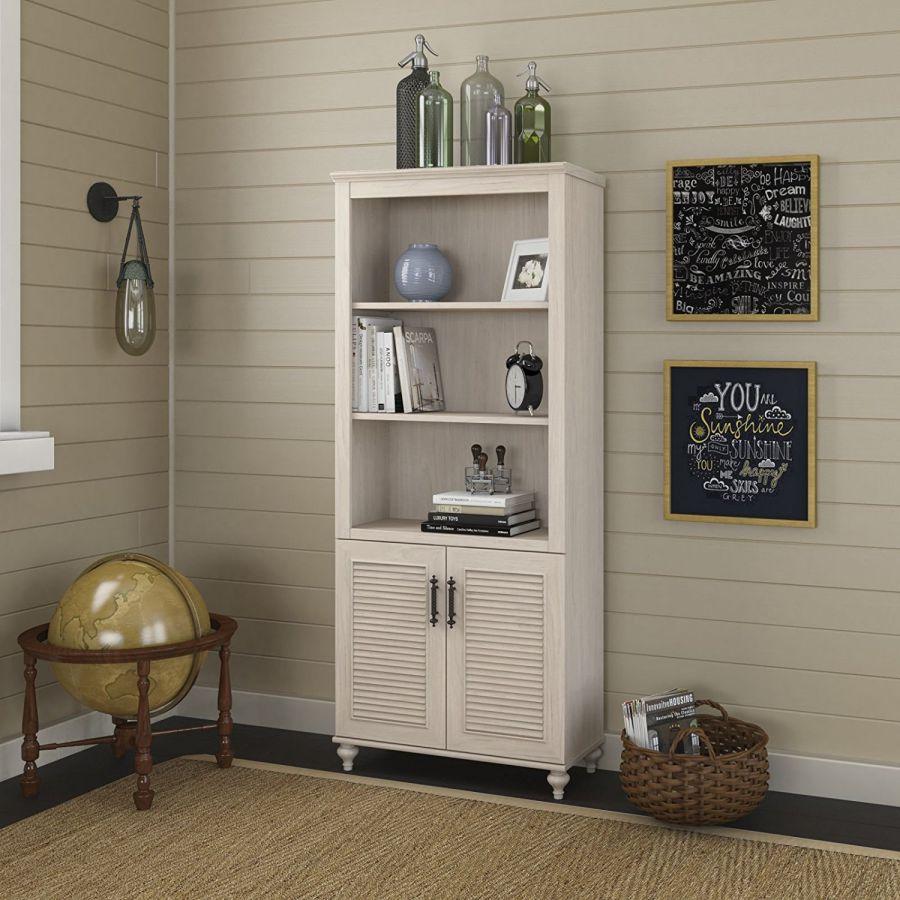 kathy-ireland-Office-by-Bush-Furniture-Volcano-Dusk-3-Shelf-Bookcase-with-2-Door-Cabinet