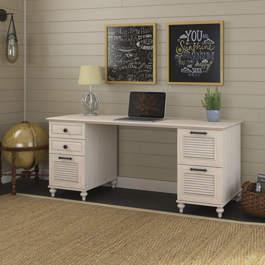 kathy-ireland-Office-by-Bush-Furniture-Volcano-Dusk-68W-Double-Pedestal-L-Desk