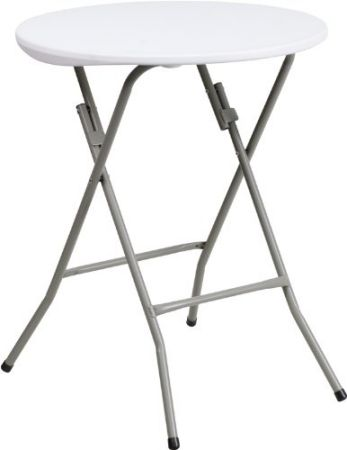 24-Round-Granite-White-Plastic-Folding-Table