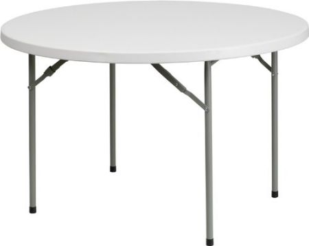 48-Round-Granite-White-Plastic-Folding-Table