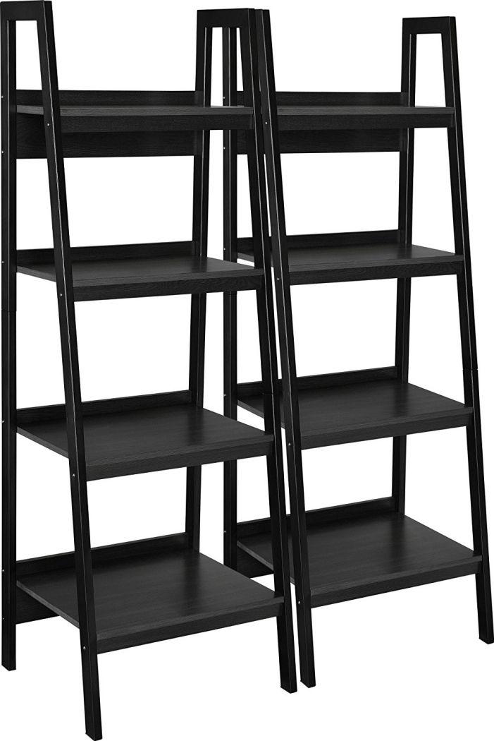 Altra-Lawrence-4-Shelf-Ladder-Bookcase-Bundle-Black