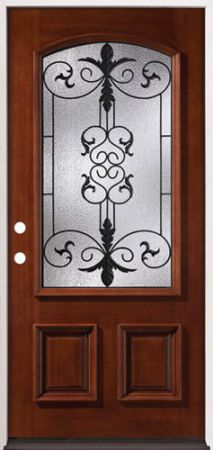 Arch-Mahogany-Wood-Entry-Door-54-Right-Hand