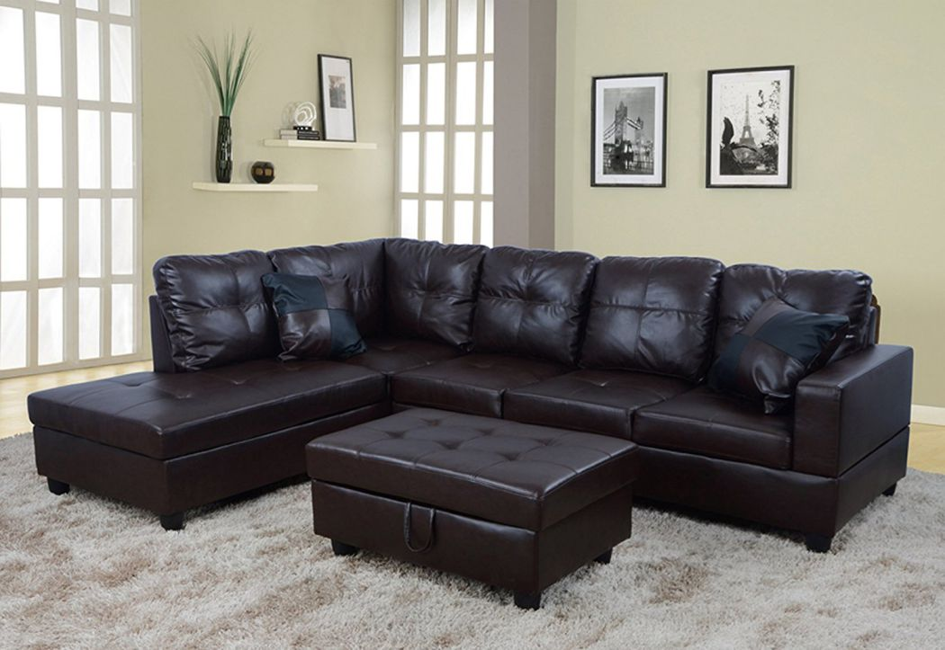 Beverly-Furniture-Beverly-Brown-3-PieceFaux-Leather-Right-facing-Sectional-Sofa-Set-with-Storage-Ottoman-Chocolate