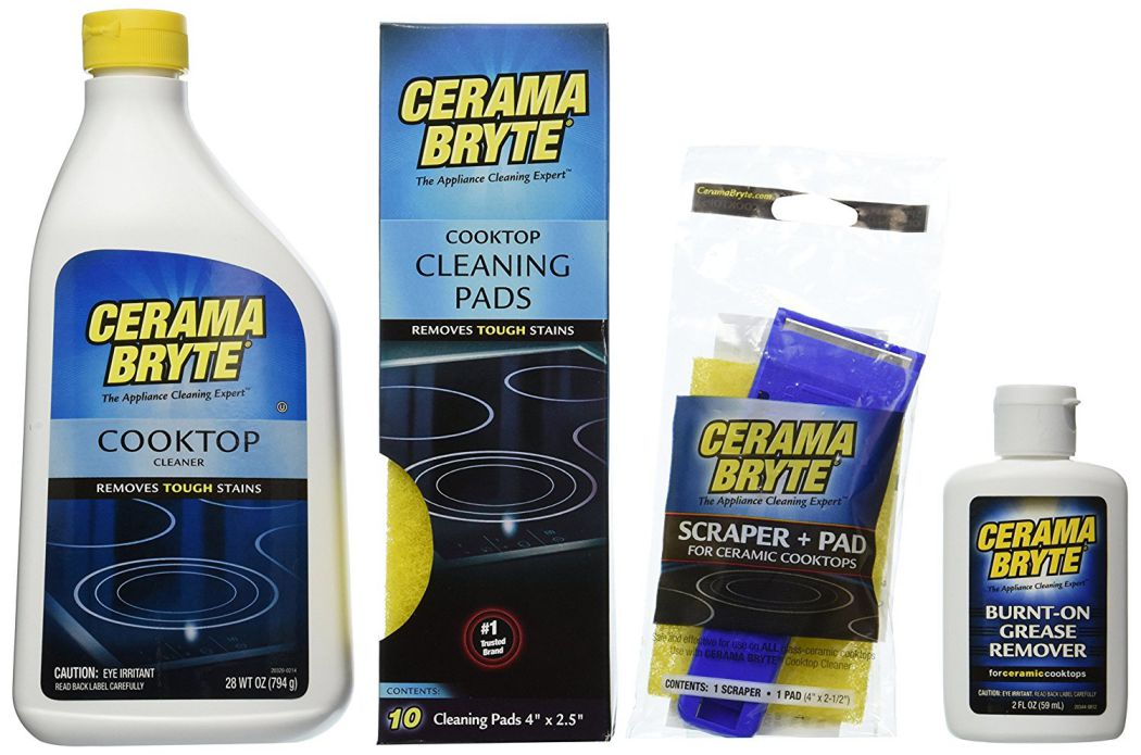 Cerama-Bryte-Best-Value-Kit-Ceramic-Cooktop-Cleaner-28oz-Scraper-10-Pads-Burnt-on-Grease-Remover-2oz