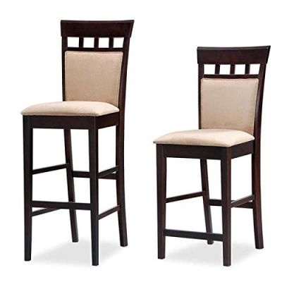 Coaster-Hyde-29-Inch-Upholstered-Panel-Back-Cappuccino-Bar-Stool