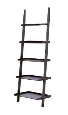 Contemporary-Black-Finish-5-Tier-Ladder-Book-Shelf
