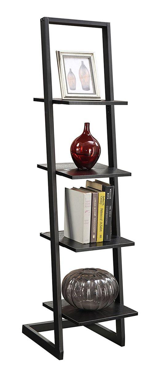 Convenience-Concepts-Designs2Go-4-Tier-Ladder-Bookshelf-Black
