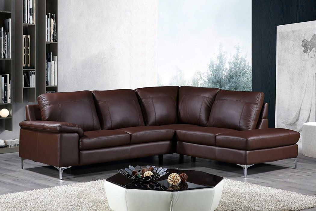 Cortesi-Home-Contemporary-Dallas-Genuine-Leather-Sectional-Sofa-with-Right-Chaise-Lounge-Brown