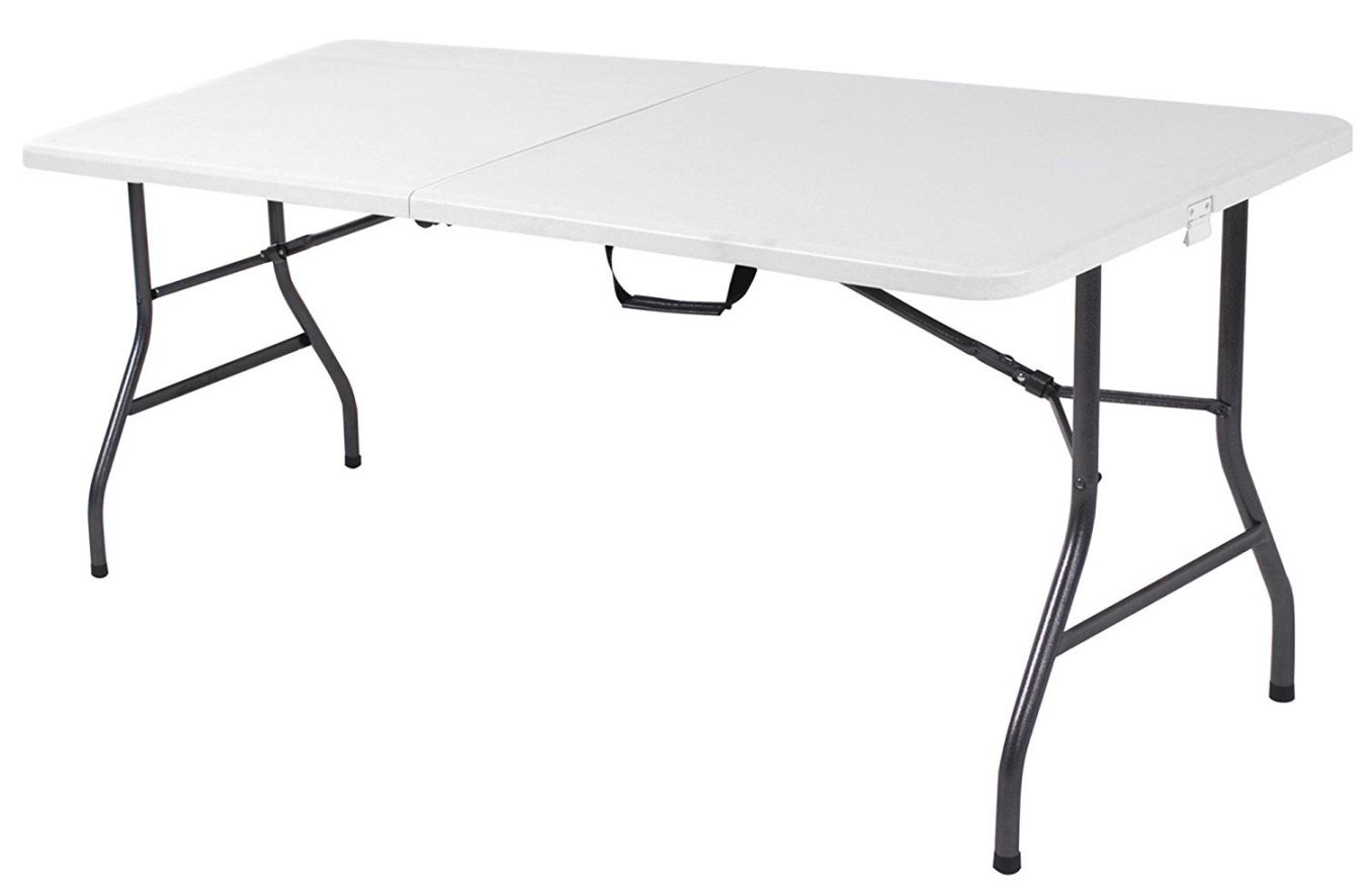Cosco-Products-Centerfold-Folding-Table-6-Feet-White-Specked-Pewter
