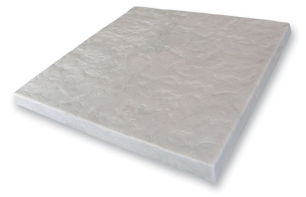 """EMSCO-Group-Flat-Rock-Paver-Patio-Stones-24-Pack-–-16""""-x-16""""-Natural-Slate-Tile-–-Easy-Installation-Made-of-resin-construction"""