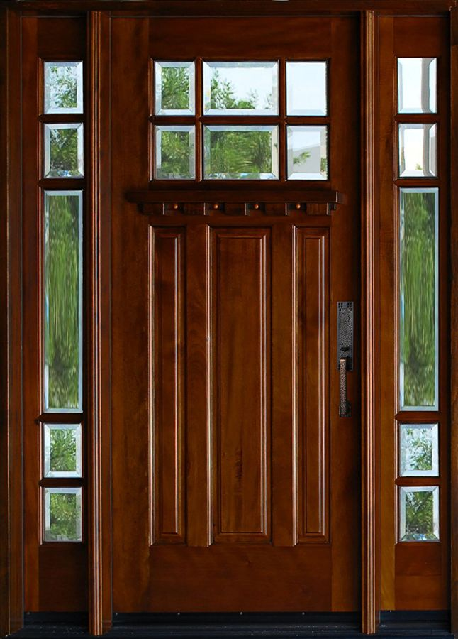 Exterior-Mahagany-Front-Wood-Entry-Door-M36