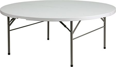 Flash-Furniture-DAD-183RZ-GG-72-Inch-Round-Bi-Fold-Granite-Plastic-Folding-Table-White