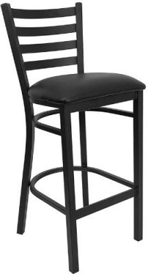Flash-Furniture-XU-DG697BLAD-BAR-BLKV-GG-HERCULES-Series-Black-Ladder-Back-Metal-Restaurant-Bar-Stool-with-Black-Vinyl-Seat