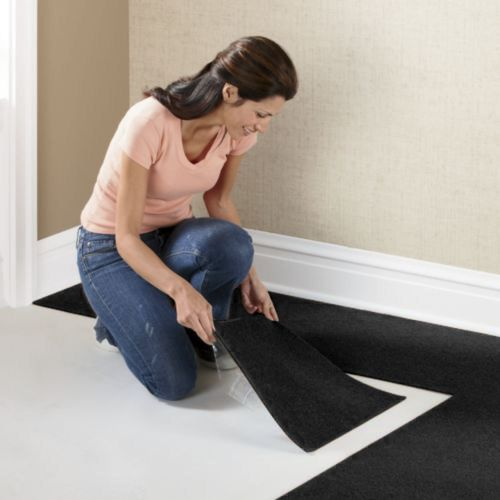 Houseables-Self-Adhesive-Polyester-Square-Carpet-Tiles-12-Inch-by-12-Inch-144-sq.-ft.-Black