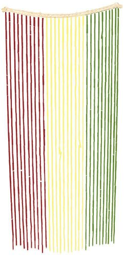 Island-Dogs-Bamboo-Beaded-Door-Curtain-3ft-x-6ft-Assorted-Colors-Rasta