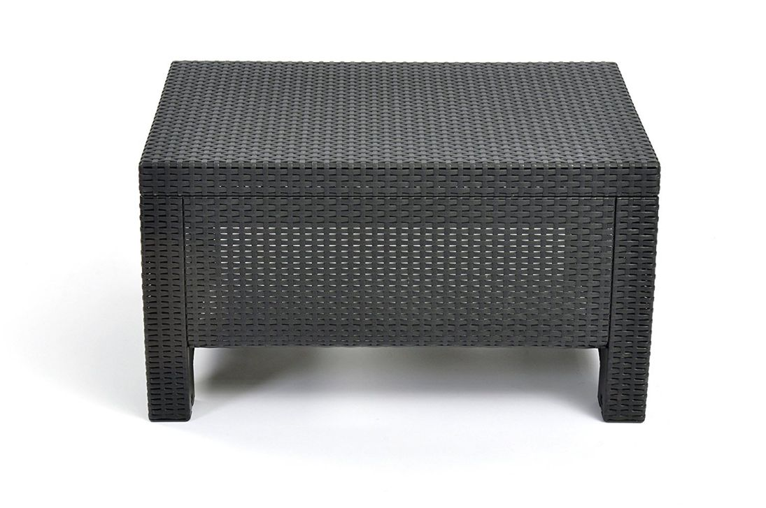 Keter-Corfu-Coffee-Table-New-All-Weather-Outdoor-Patio-Garden-Backyard-Furniture-Charcoal