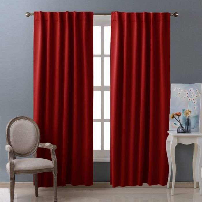 Nicetown-Blackout-Room-Darkening-Curtains-Window-Panel-Drapes-Burgundy-Color-2-Panels-Set
