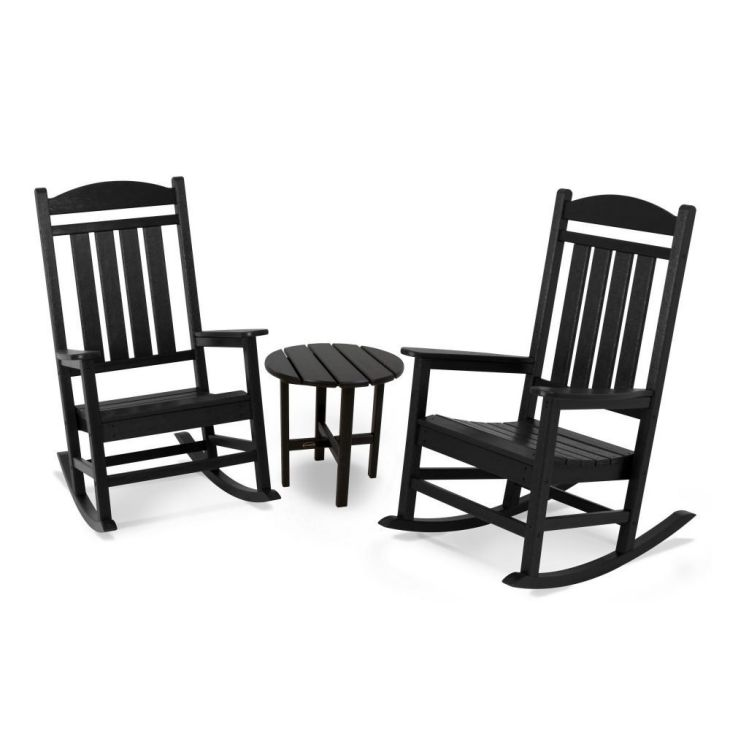 POLYWOOD-PWS109-1-BL-Presidential-3-Pc.-Rocker-Set-Black