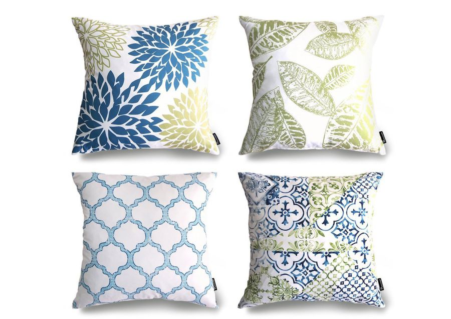 Phantoscope-New-Living-BlueGreen-Decorative-Throw-Pillow-Case-Set-of-4