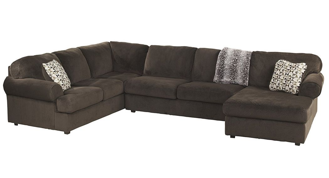 Signature-Design-by-Ashley-Place-Sectional-Sofa-Chocolate-Fabric