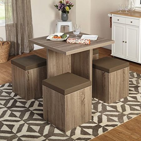 Simple-Living-5-piece-Baxter-Dining-Set-with-Storage-Chair-Ottomans