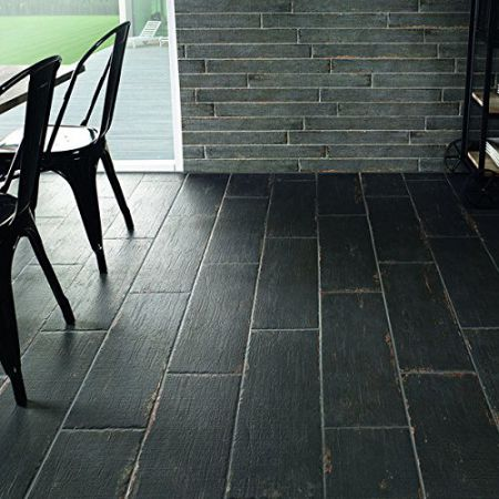 SomerTile-8.25x23.5-inch-Lambris-Negre-Porcelain-Floor-and-Wall-Tile-Case-of-8