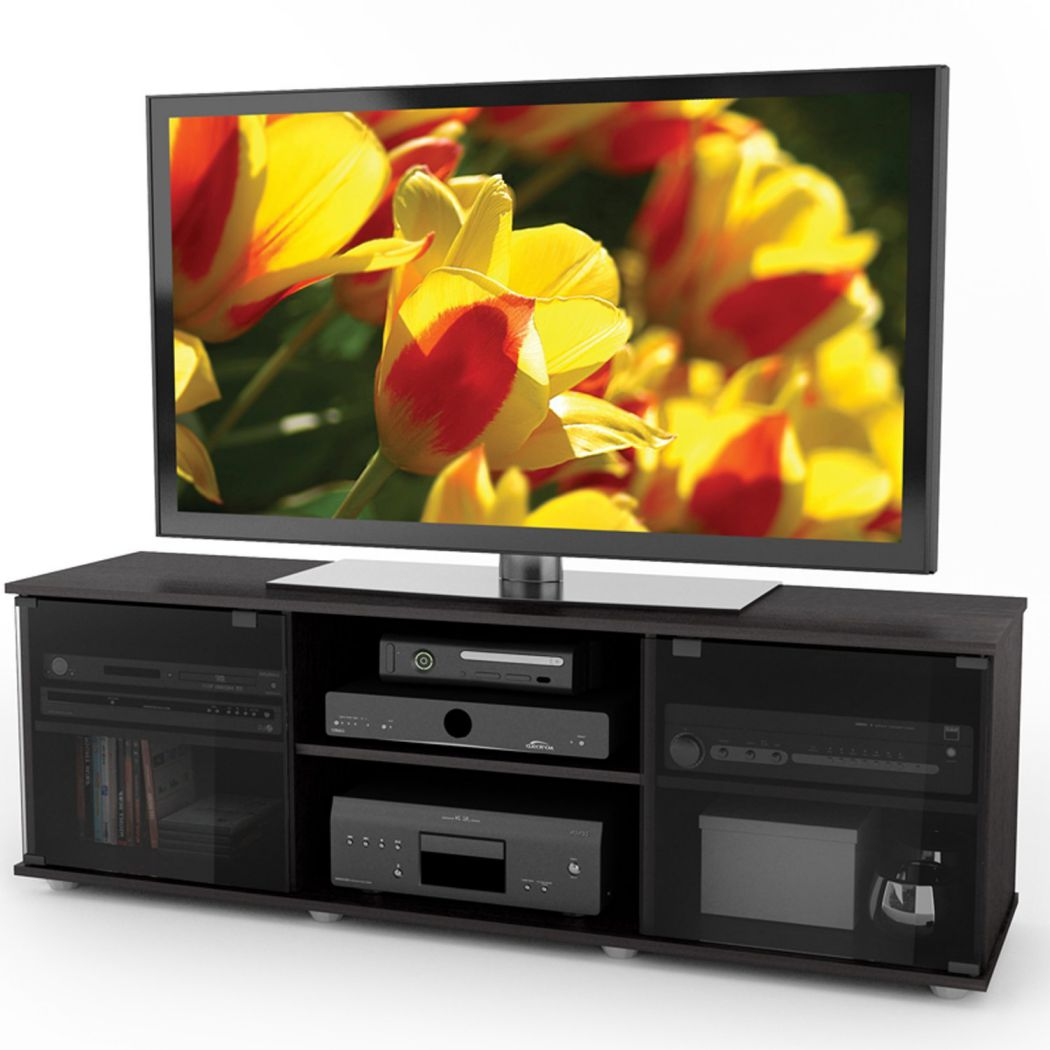 Sonax-FB-2600-Fiji-60-Inch-TV-Component-Bench-Ravenwood-Blac
