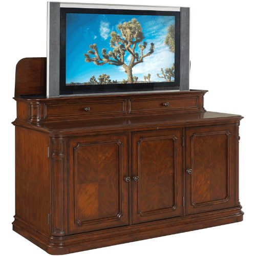 TV-Lift-Cabinet-for-40-60-inch-Flat-Screens-Stained-AT004310