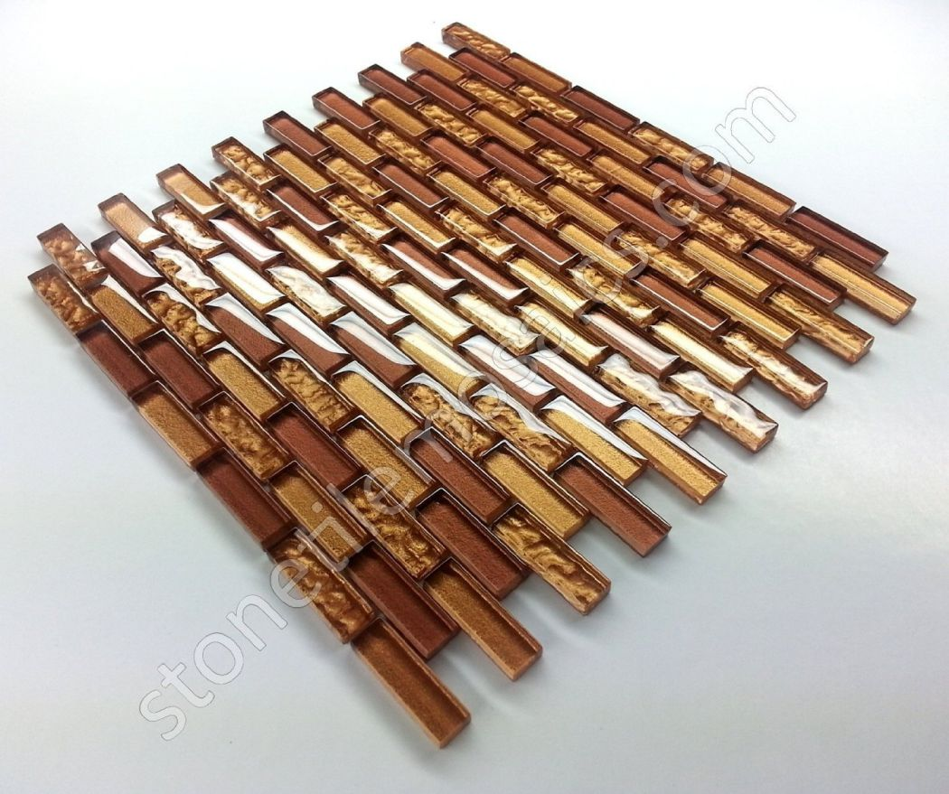 Vogue-Premium-Quality-Copper-Gold-Glass-Mixed-Brick-Pattern-Mosaic-Tile-for-Backsplash-and-Bathroom-Wall-Designed-in-Italy-Box-of-5-sq.-ft.