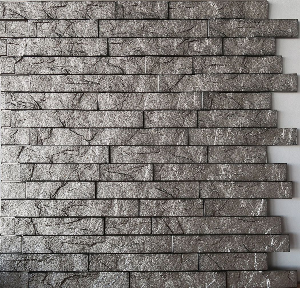 Wall-Panel-Ledge-Stone-Decorative-Interlocking-Thermoplastic-Tiles-24x24-Sparkled-Grey