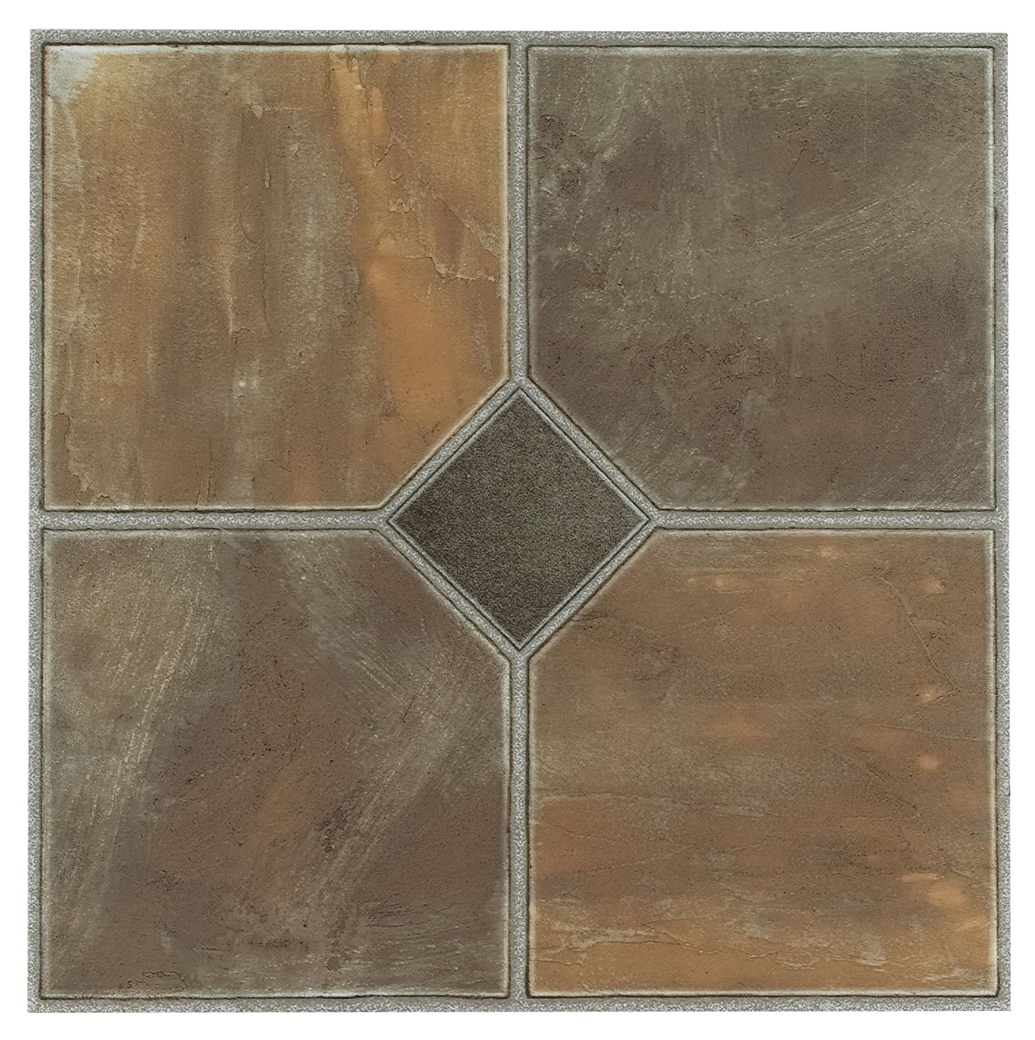 Achim Home Furnishings FTVGM32620 Nexus 12-Inch Vinyl Tile, Geo Rustic Slate, 20-Pack