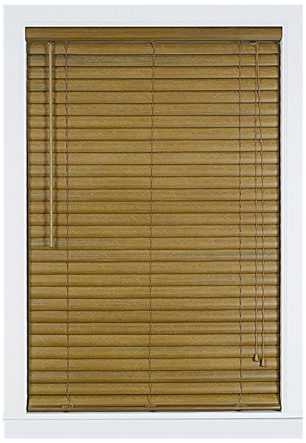 Achim Home Furnishings Luna 2-Inch Vinyl Blind, 29-Inch by 64-Inch, Woodtone