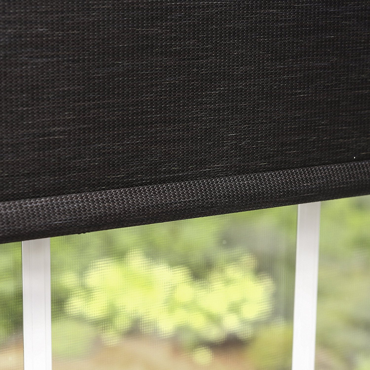 "Best Home Fashion Premium Single Wood Look Roller Window Shade - Charcoal - 30""W x 64""L"