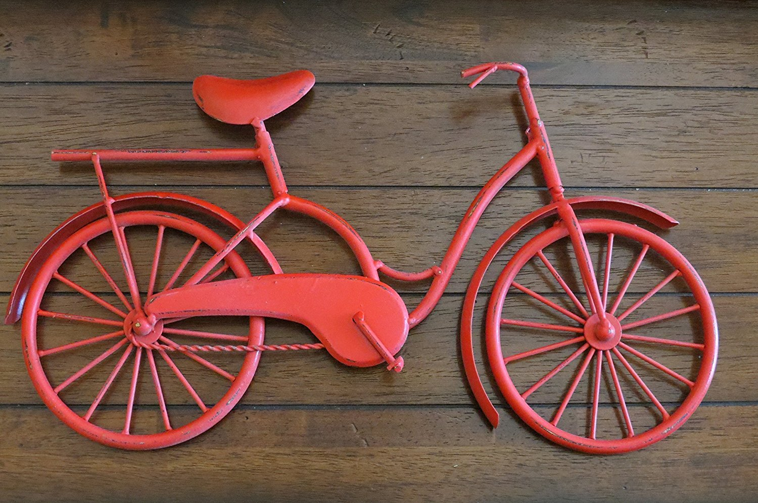 Bike Wall Decor/ Apple Red or Pick Your Color/ Bicycle Metal Wall Decor/ Unique Wall Idea/ Metal Wall Hanging