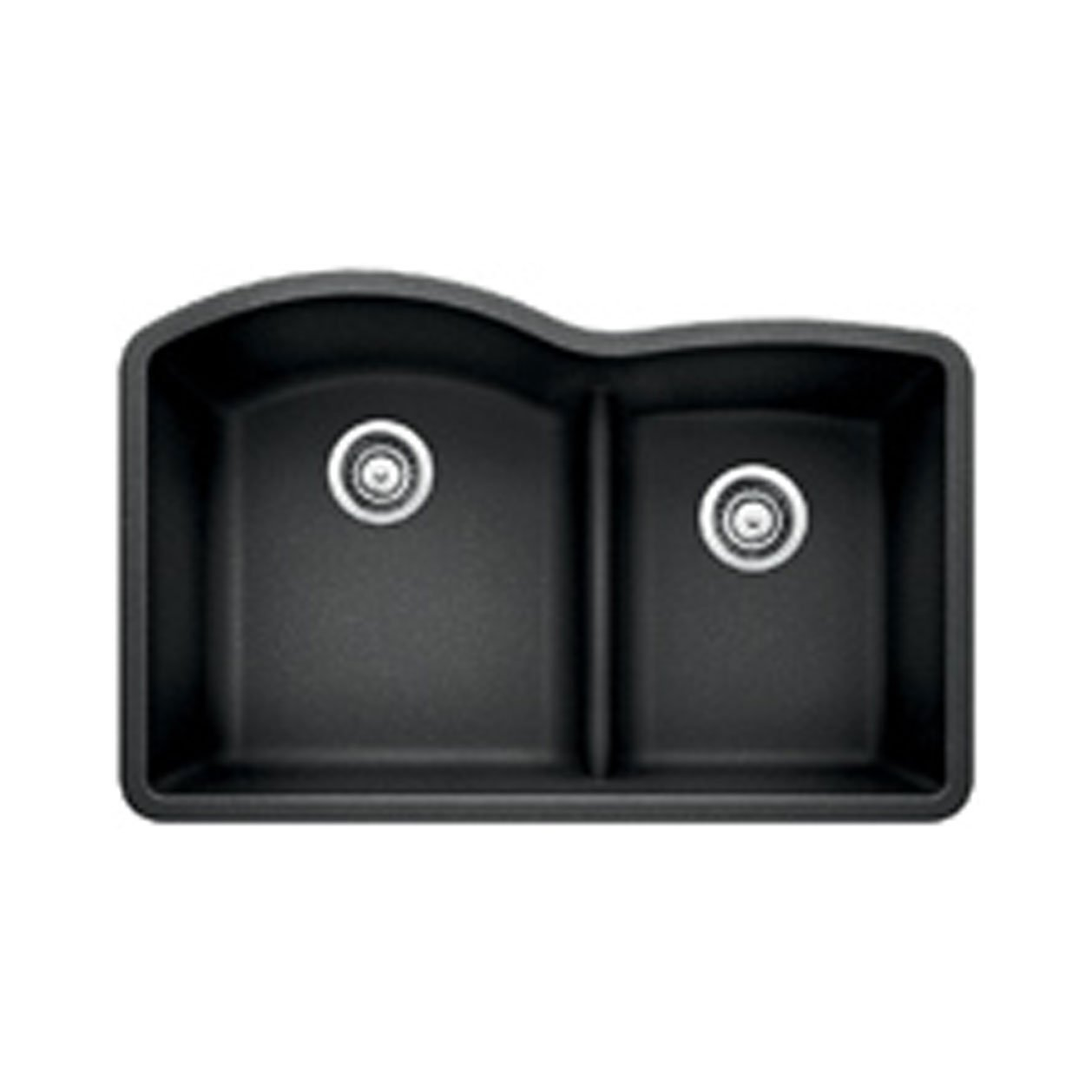 Blanco 441590 Diamond 1.75 Low Divide Under Mount Double Bowl Kitchen Sink, Large, Anthracite