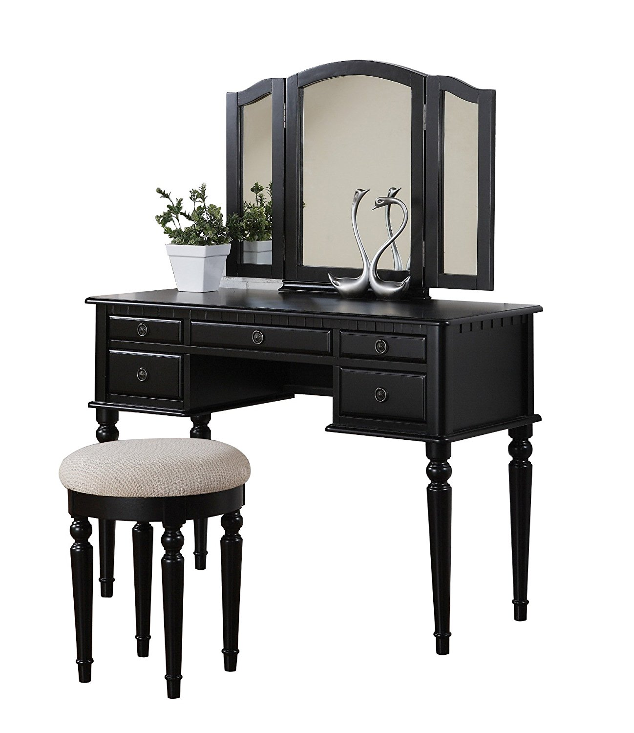 Bobkona St Croix Collection Vanity Set With Stool Review