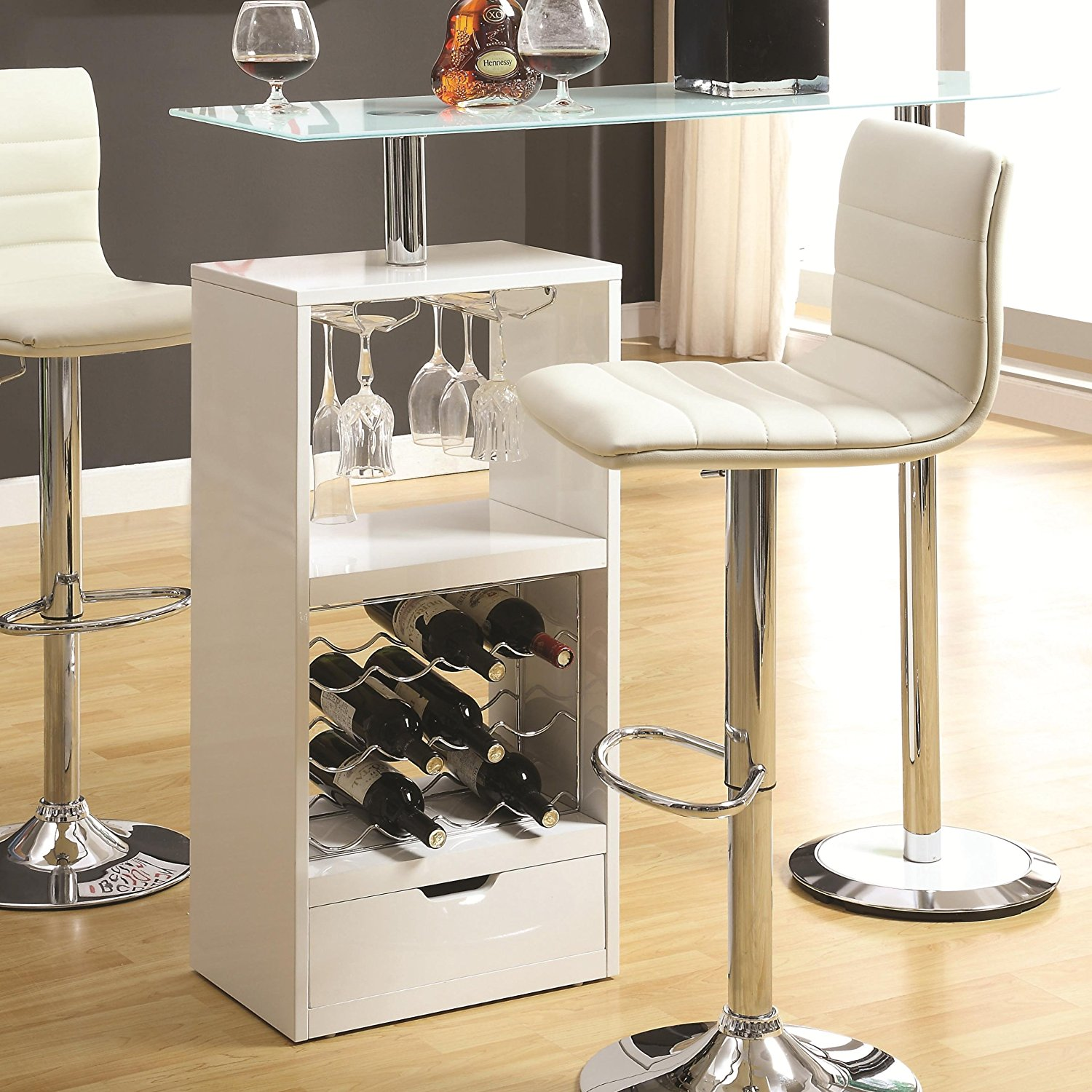 Coaster Home Furnishings Contemporary Bar Table, White