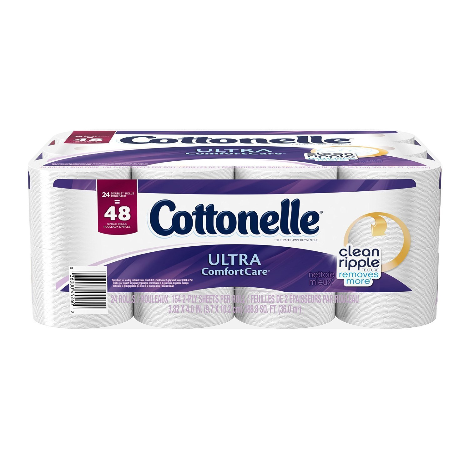 Cottonelle Ultra Comfort Care Toilet Paper - Double Roll - 24 pk