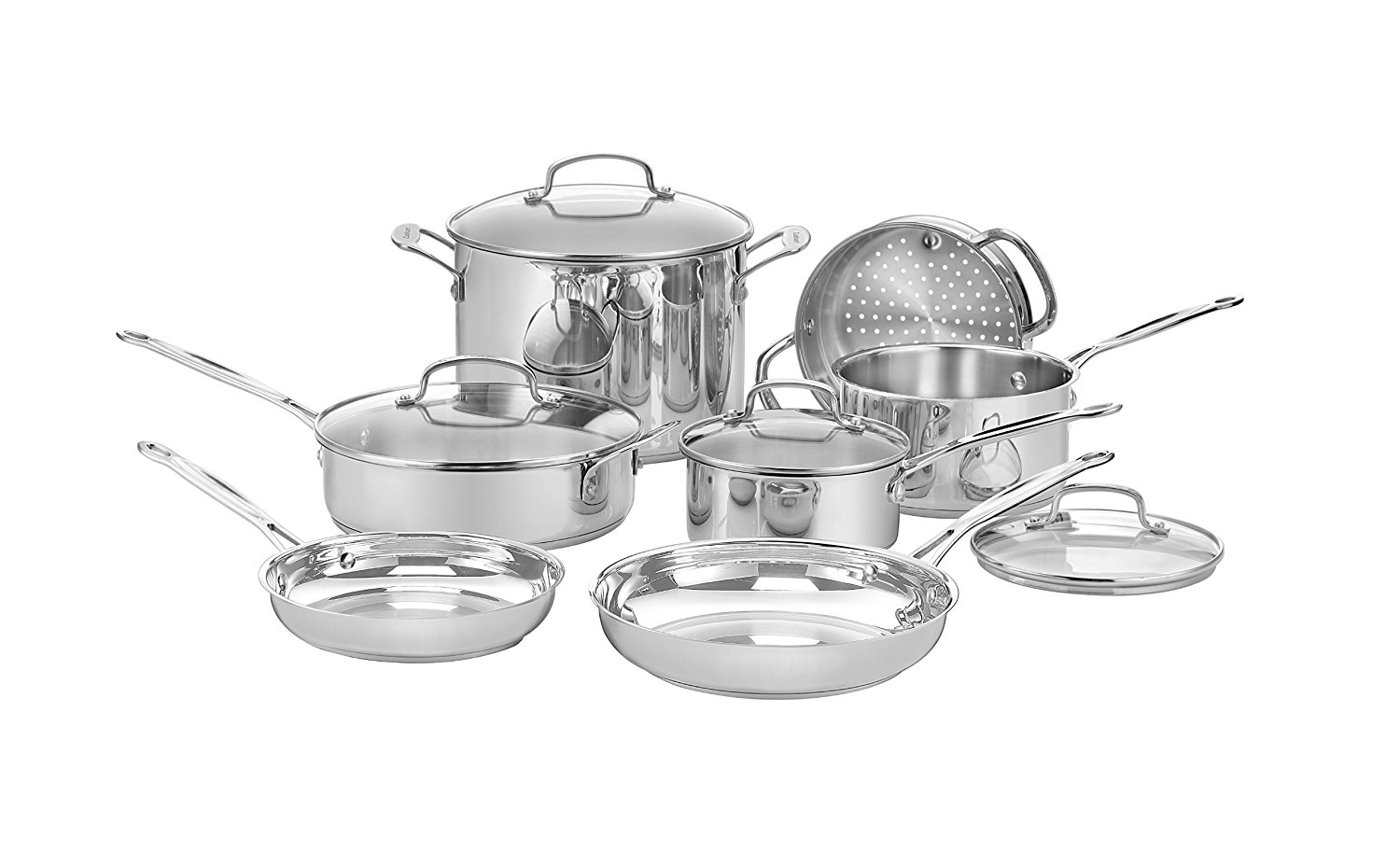 Cuisinart 77-11G Chef's Classic Stainless 11-Piece Cookware Set
