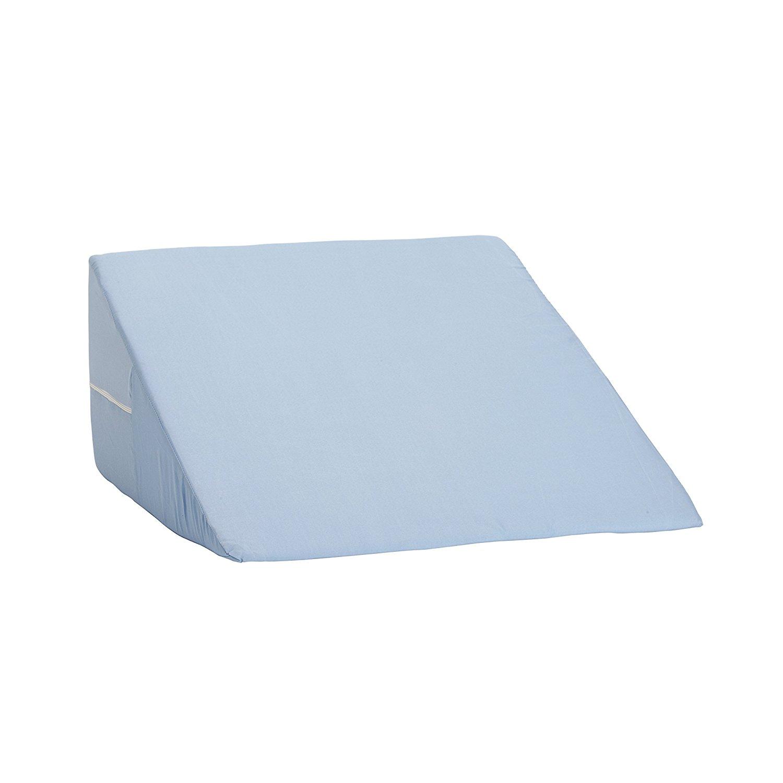 DMI Foam Bed Wedge Pillow, Acid Reflux PIllow, Leg Elevation Pillow, Blue, 12 x 24 x 24 inches