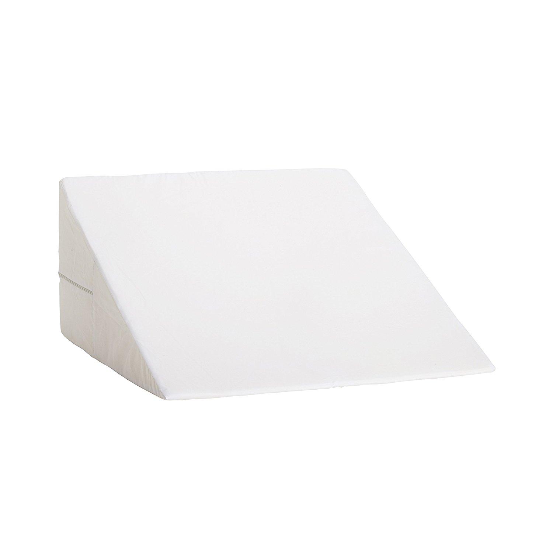 DMI Foam Bed Wedge Pillow, Acid Reflux PIllow, Leg Elevation Pillow, White, 12 x 24 x 24 inches
