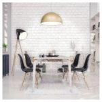 Devine Color Peel and Stick Wallpaper Textured Brick Pattern - White