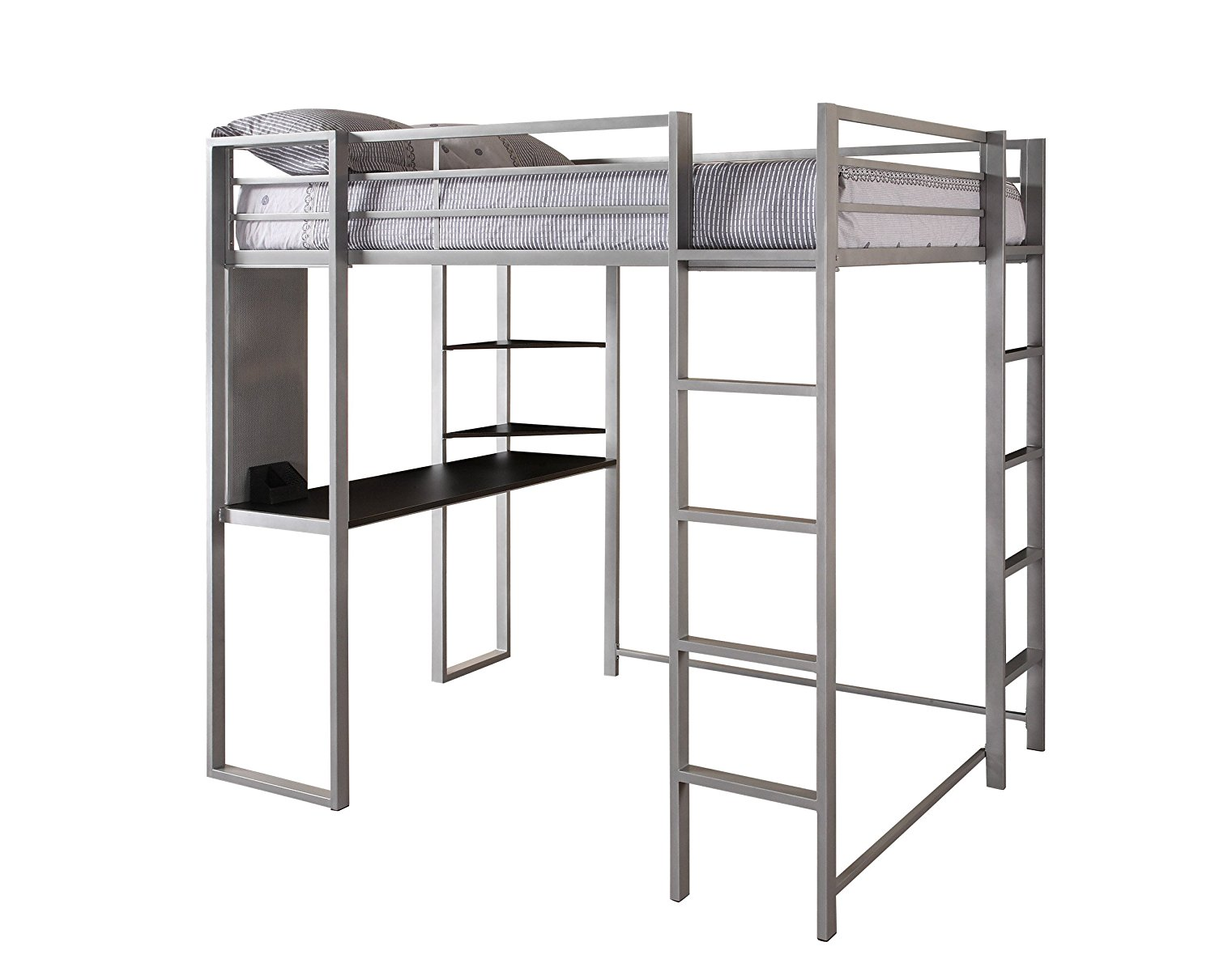Dorel Home Products Abode Full Size Loft Bed, Silver