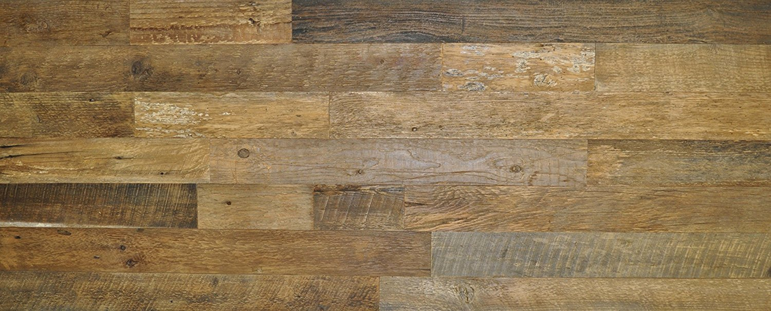 "East Coast Rustic DIY Brown 3.5"" Sealed Reclaimed Wood Wall Covering 20 Square Feet - Do It Yourself Genuine Barn Wood"