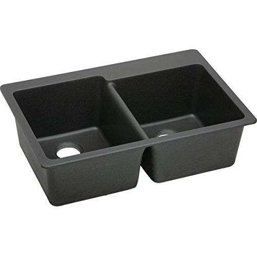 Elkay ELG250RBK0 Quartz Classic Double Bowl Sink