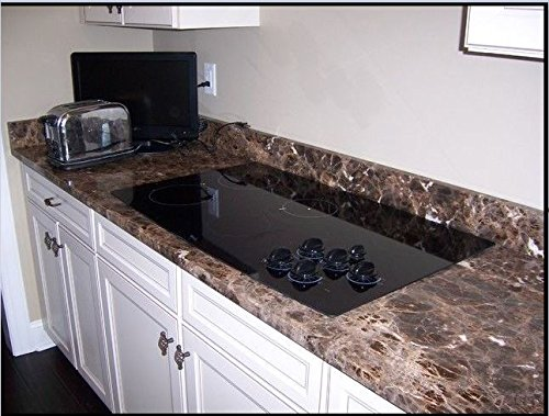 "EzFaux Décor:Countertop Transformation Not Your Grandma's Contact Paper. Granite Peel and Stick Laminate Vinyl. Dark Emperador Granite Look 36"" W x 120"" L Roll"