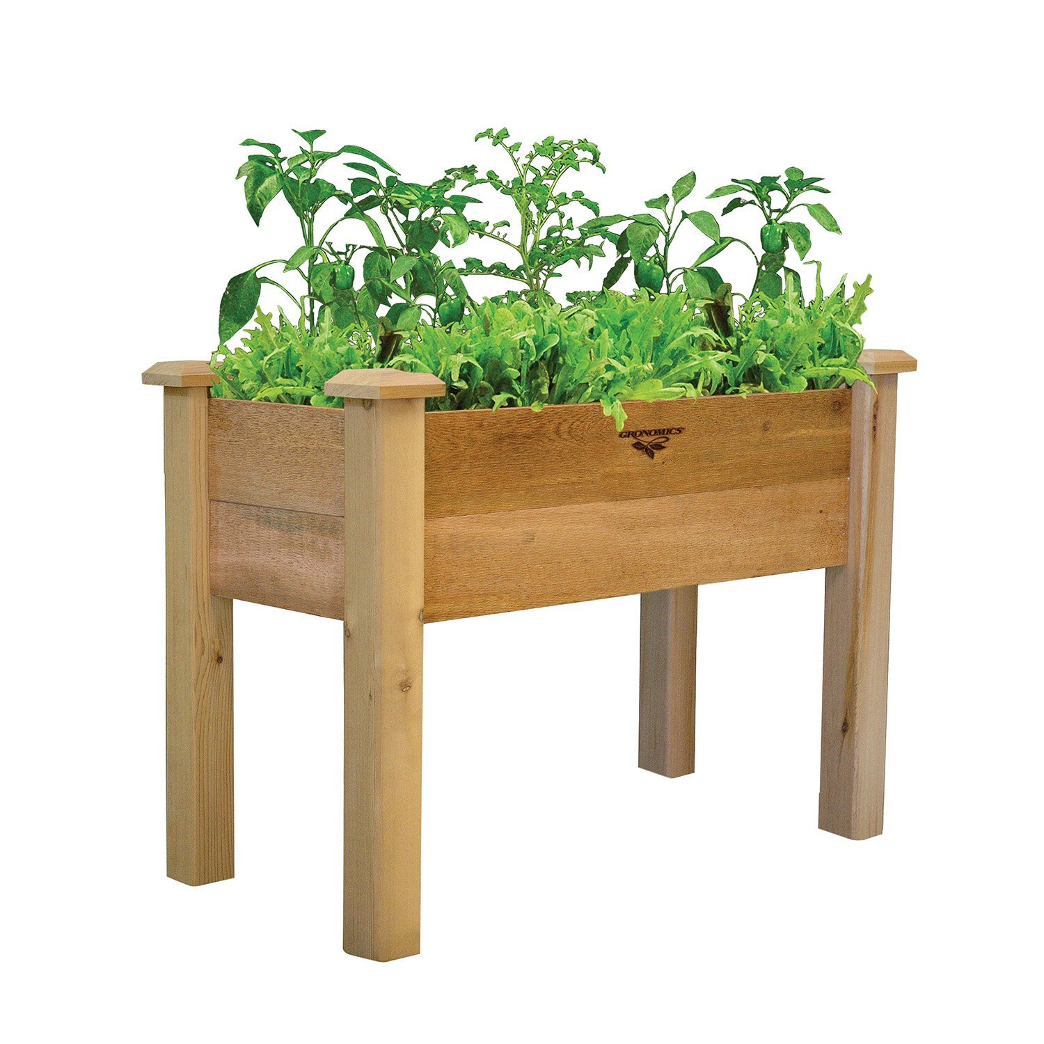 """Gronomics Rustic Elevated Garden Bed, 18 by 34 by 32"""""""