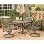 Home Styles 5555-325 Biscayne 5-Piece Outdoor Dining Set, Rust Bronze Finish, 48-Inch
