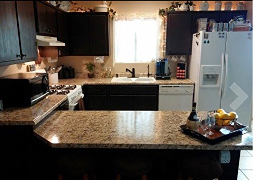 "Instant Granite Counter Top Cover, 36"" X 12' Film, Venetian Gold"
